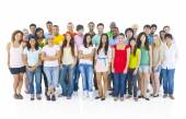 Large Group of People Standing — Stock Photo
