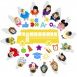 Group of Children and School Concept — Stock Photo #52450379
