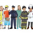 Children Wearing Future Job Uniforms — Stock Photo #52450917