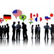 Business People with different flags — Stock Photo #52451309