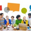 People Discussing About New Ideas — Stock Photo #52451505