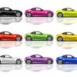 Multicolored 3D Modern Cars — Stock Photo #52452921