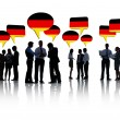 People With German Flag Speech Bubble — Stock Photo #52452963
