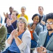 Cheerful People Clapping with Gladness — Stock Photo #52454197