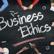 People Working and Business Ethics Concept — Stock Photo