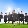 Students Celebrating Graduation — Stock Photo #52455691