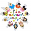 Group of Children and Saving Concept — Stock Photo #52457397
