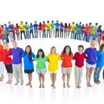 Multi racial world people united — Stock Photo #52458919