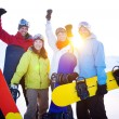 Snowboarders on Top of Mountain — Stock Photo #52458925