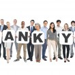 People Holding Letters Form Thank You — Stock Photo #52459027