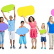 People with speech bubbles — Stock Photo #52459373