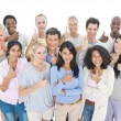 Group of People showing thumbs up — Stock Photo #52459447