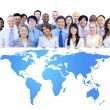 Business People with World Map — Stock Photo #52459699
