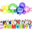 Large Community of Social Networking — Stock Photo #52459793