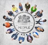 Multiethnic People Forming Circle — Stock Photo