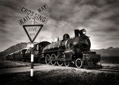 Old fashioned steam locomotive — Stock Photo