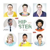 Headshots of People Labeled as Hipster — Stock Photo