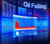 Oil Falling Crisis — Stock Photo