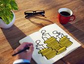 Businessman Brainstorming on a Financial Concept — Foto de Stock