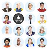 Headshots of Group of People — Stock Photo