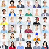 Multiethnic Mixed Occupations People — Stockfoto