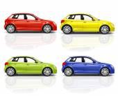 3d carro hatchback — Foto Stock