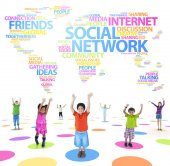 Group of Children with Communication Technology — Stock Photo