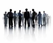 Silhouetted Business Team — Stock Photo