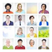 Group of Multiethnic Diverse World People — Stock Photo