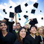 Graduating students — Stock Photo