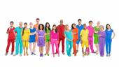 Group of diverse multi-ethnic people — Stock Photo