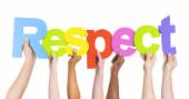 People Holding Word Respect — Stock Photo