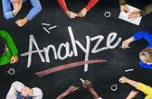 People and Analyze Concept — Stok fotoğraf