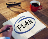 Businessman with Plan Concept — Stock Photo