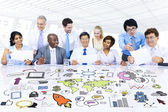 Business people strategic planning — Stock Photo