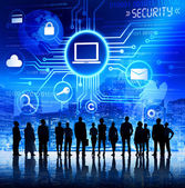 Business People Being Aware of Information Security — Stock Photo