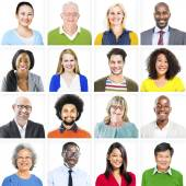 Portrait of Colorful Cheerful People — Stock Photo