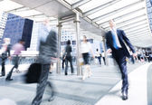 Business People in motion — Stock Photo