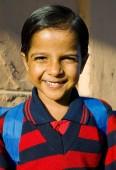 Indian school girl smilng — Stock Photo