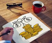 Businessman Drawing Money Concept — Stock Photo