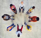 Multi-Ethnic People Sitting in Circle — Stock Photo