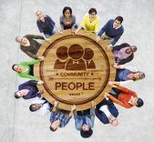 Persone, tenendosi per mano — Foto Stock