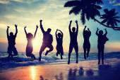 Young People Jumping with Excitement — Foto Stock
