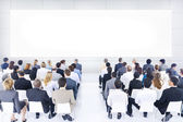Large group of business people in presentation. — Stock Photo