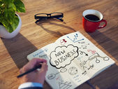 Businessman Planning for Startup Business — Stock Photo