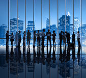 Group of Business People in the City — Stock Photo