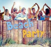 Group of People and Beach Party — Stock Photo