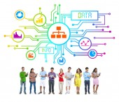 People and Data Concepts — Stock Photo