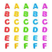 英语多彩色的字母表 — 图库照片