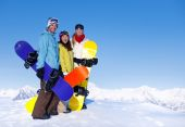 Three Snowboarders — Stock Photo